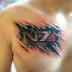 Mass Effect Tattoo Best tattoo ever ! Best Sleeve Tattoos, Body Art Tattoos, Tribal Tattoos, Cool Tattoos, Tatoos, Arm Tattoos, Geometric Tattoos, Diy Tattoo, Halo Tattoo