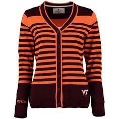 Virginia Tech Hokies Women's Striped Sweater - Maroon - $56.99