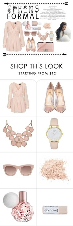 """""""Spring Formal"""" by mary03l on Polyvore featuring Topshop, Chanel, Semilla, Kate Spade, STELLA McCARTNEY, Essie, formal and spring2016"""