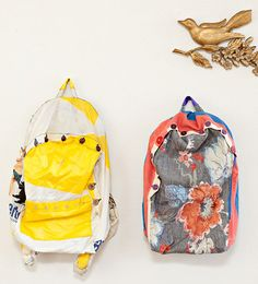 upcycled backpacks