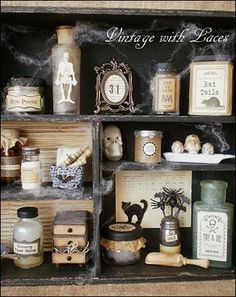 Halloween Apothecary Cabinet - Halloween by Julia