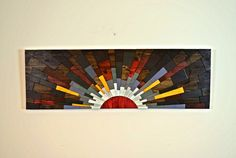 wood wall art  SUNSET ON JUPITER  wooden wall by StainsAndGrains