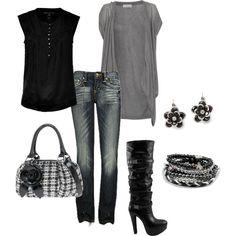 Relaxed but stylish, created by jklmnodavis.polyv...