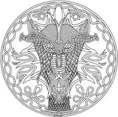 Dragon Abstract Doodle Zentangle Paisley Coloring Pages Colouring Adult Detailed Advanced Printable Kleuren Voor Volwassenen Coloriage