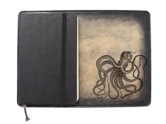 Items similar to Moleskine Leather Notebook Cover [Large & Pocket Sizes][Customizable][Free Personalization] - Octopus on Etsy Leather Notebook, Leather Journal, Paper Bookmarks, Journal Covers, Moleskine, Octopus, Journals, Pocket, Amp