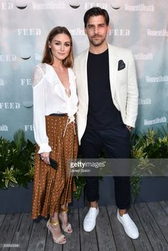 Olivia Palermo and Johannes Huebl attend Women's Health and FEED's 6th Annual Party Under the Stars at Bridgehampton Tennis and Surf Club on August 5, 2017 in Bridgehampton, New York.