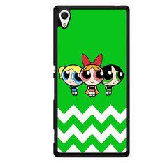 The Powerpuff Girls Chevron TATUM-10976 Sony Phonecase Cover For Xperia Z1, Xperia Z2, Xperia Z3, Xperia Z4, Xperia Z5