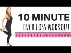 10 MINUTE INCH LOSS WORKOUT - easy to follow home exercise video - no equipment needed - YouTube