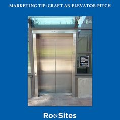Marketing Tip: Craft an elevator pitch  You should be marketing yourself all the time no matter wherever you are. To do so you need to have an elevator pitch.  Research shows the average attention span of adults is roughly 6 -8 seconds. So that is all the time you have to grab someones attention.  If you successfully engage them then you just over a minute to really sell them on your product or service. Take the time to craft a killer elevator pitch. The return on your investment will pay…