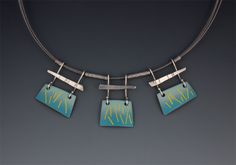 Enameled necklaces - W Walsh Designs - Vitreous enamels, set in sterling silver.
