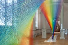 Miles of Thread and a Giant Needle Weave Indoor Rainbows | The Creators Project