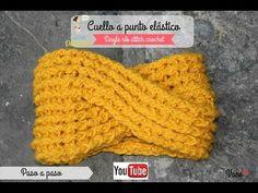 Crochet:  Cuello trenza a punto elástico (single rib stitch crochet) - YouTube