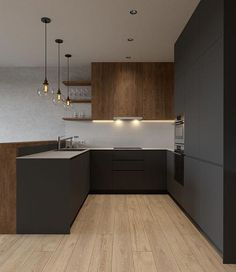 Black open kitchen - home interior design idea - trendy and modern . Black open kitchen - home interior design idea - trendy and modern . Home Decor Kitchen, Kitchen Living, Kitchen Interior, New Kitchen, Kitchen Ideas, Living Rooms, Kitchen Tile, Kitchen Sofa, Design Kitchen