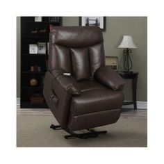 Lift Recliners Wall Hugger Leather Power Electric Chair Living Room Furniture #ProLoungerLya #Traditional