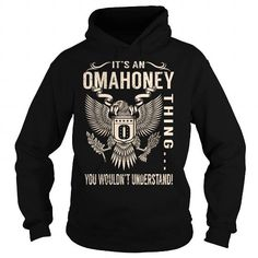 I Love Its an OMAHONEY Thing You Wouldnt Understand - Last Name, Surname T-Shirt (Eagle) T shirts