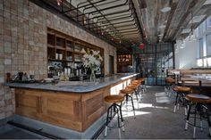 Sip a Kir Royale and nibble on charcuterie at Smyth TriBeCa's Plein Sud Restaurant and Wine Bar in New York City. by adrian Rustic Restaurant, Restaurant Design, Restaurant Ideas, Restaurant Interiors, Restaurant Furniture, Rustic Design, Rustic Decor, Rustic Backdrop, Nyc
