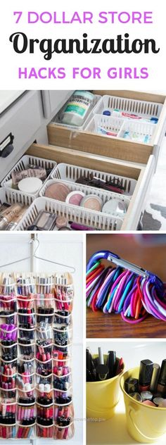Adorable Dollar Store Organizing Ideas For The Bedroom – Cheap and easy diy projects and ways to organize a girls room, make up and other accessories that will surely help you out while making your home decor look even better. These Dollar Store Crafts are the best! The po ..