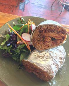 Chicken Mole Burrito...rice smashed Beans pico de gallo jack cheese Crema $9  #tostadatuesday  @boca31.denton  #boca31 #chefandresmeraz #dentonslacker #dealoftheday #lunchspecial #denton #dentontexas #dentontx #dentoning #wedentondoit #wddi #unt #twu #dentonite #doingitdenton #dentonproud