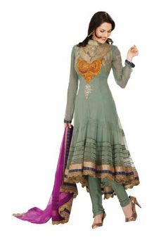 Fabdeal Women's Indian Designer Wear Embroidered Anarkali Suit Sea Green Fabdeal, http://www.amazon.de/dp/B00GAPZE8M/ref=cm_sw_r_pi_dp_BNQptb16MJ51G