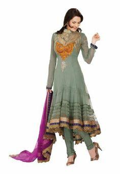 Fabdeal Women's Indian Designer Wear Embroidered Anarkali Suit Sea Green Fabdeal, http://www.amazon.de/dp/B00GAPZE8M/ref=cm_sw_r_pi_dp_BNQptb16MJ51G
