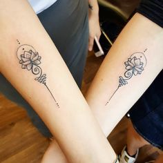 Mine and my sister's matching tattoos by Syluss @ Songbird tattoo studio Exeter UK