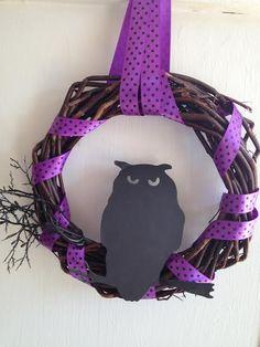 Dollar Store DIY Spooky Owl Wreath Craft