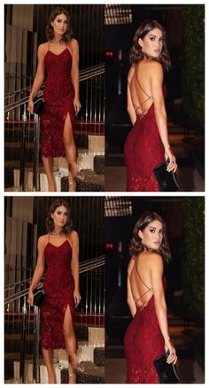 homecoming dresses ,Lace Homecoming Dresses,Sexy Burgundy Lace – My World Elegant Dresses For Women, Sexy Dresses, Evening Dresses, Short Dresses, Backless Homecoming Dresses, Looks Chic, Black Cocktail Dress, Cocktail Dresses, The Dress
