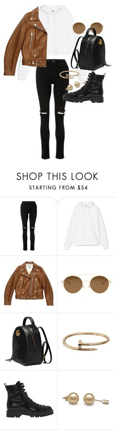 """""""Untitled #21976"""" by florencia95 ❤ liked on Polyvore featuring Acne Studios, Mykita, Gucci, Cartier and Valentino"""
