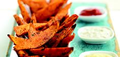 Baked instead of fried sweet potato fries.  Another Sandra Lee recipe.  Yummy!!