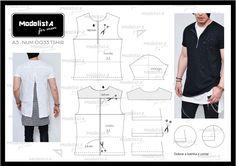No verão gringo a tendência da Camiseta mais comprida (ou Oversized Tee, Longline T Shirt) está pegando forte! E por que não trazer isso p...