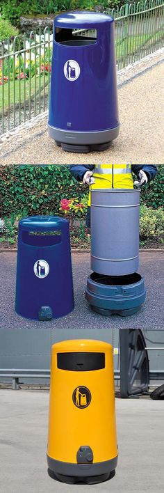 Topsy™ 2000 litter bin is purpose-designed for easy emptying without the need for strenuous lifting. Available with various options including aperture flaps. #GlasdonUK #ExternalLitter #Bins