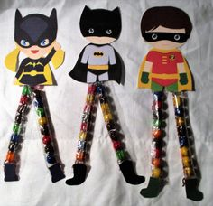 Super Heroes  Sixlets Legs Candy Novelty Gift Easter