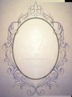 Filigree Frame Request Unfinished by KrisHanson on DeviantArt