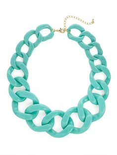 our turquoise chunky chain strand is perfect for summer