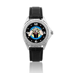 Fashion Women Wrist Watch Leather Band PSC448 Popeye W ** Want to know more on the watch, click on the image.