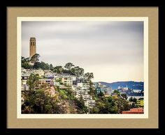 California Framed Print featuring the photograph Telegraph Hill by Marnie Patchett