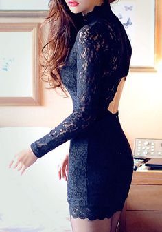 Cutout Black Bodycon Dress   Lookbook Store