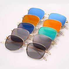 Unisex Retro Sunglasses Mirrored Eyewear Shades Eyeglasses Outdoor Glasses