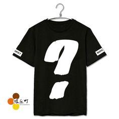 Summer style beast b2st question mark printing short sleeve t-shirt plus size men women kpop t shirt beast mv same top tees