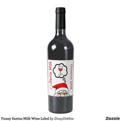 Funny Santas Milk Wine Label