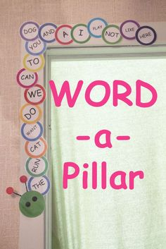 Teach Your Child To Read Tips - Build a Word-a-Pillar with the sight words your child is learning. A great way to motivate your child to read and track progress! - TEACH YOUR CHILD TO READ and Enable Your Child to Become a Fast and Fluent Reader! Sight Word Activities, Literacy Activities, Listening Activities, Literacy Centers, Site Words, Word Building, Kindergarten Literacy, Kindergarten Sight Words, Kindergarten Smorgasboard