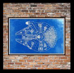 Star wars stormtroopers blueprint art of stormtroopers hoth star wars millennium falcon blueprint art of the millennium falcon top view engineering drawings patent blue print art item 0190 malvernweather Gallery