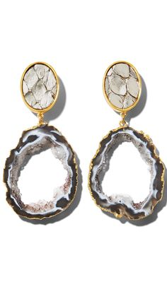 Love these geode earrings. I would rather in silver or white gold setting.