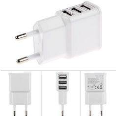 2 OR 3 PORT WALL CHARGER 5V/2A/1A