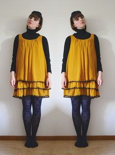 Get this look: http://lb.nu/look/7488922  More looks by Reindeer ☂: http://lb.nu/reindeereyes  Items in this look:  Second Hand Polkadot Scarf, Second Hand Turtleneck, Second Hand Mustard Dress, Second Hand Polkadot Tights   #secondhand #mustard #dress #scarf #polkadot