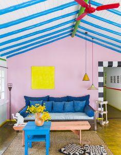 Une ancienne maison de pêcheur haute en couleurs ! - Elle Décoration