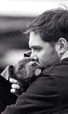 True measure of a man when he can love and care for his pet