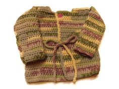 Crochet Baby Sweater 6 to 12 months by MrsSchafferCreations, $20.00