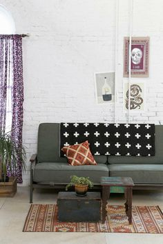 Industrial Fusion / Flea Market sofa / Oriental wooden stool / Rustic Chest / Persian & oriental Carpets / Kilim Rugs