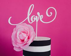 Wedding Cake Topper, « Love » Laser Cut, acrylique